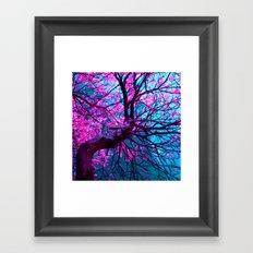 purple tree XII Framed Art Print