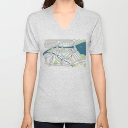 The Streets of Zurich Unisex V-Neck