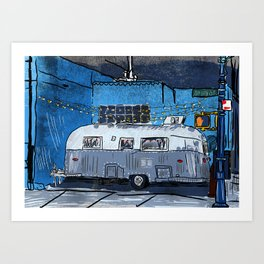 El Luchador Airstream Art Print
