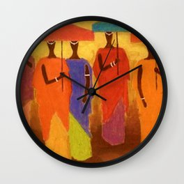 African American Masterpiece 'African Royalty' by Ellis Wilson Wall Clock