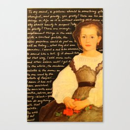 Renoir on Art  Canvas Print
