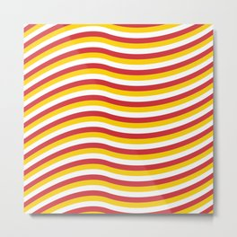 WAVE red&yellow Metal Print