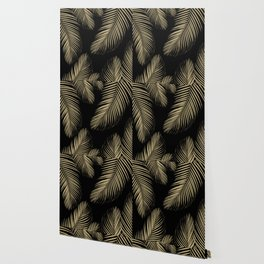Palm Leaves - Gold Cali Vibes #4 #tropical #decor #art #society6 Wallpaper