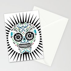 Sugar Skull SF multi -  on white Stationery Cards