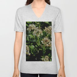 Stopping to Smell the Flowers at the Top of the Mountain Unisex V-Neck