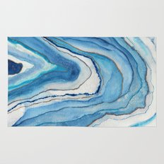 AGATE Inspired Watercolor Abstract 02 Rug