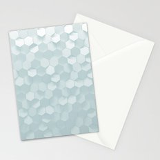 hexagon snow Stationery Cards