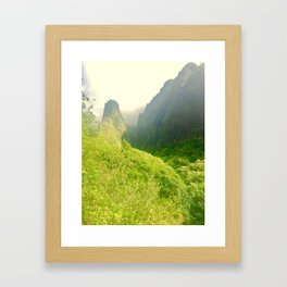 Iao needle Framed Art Print