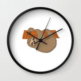 "For Animal Lovers Great Sloth Tee For Animal Lovers ""My Spirit Animal"" T-shirt Design Lazy Sleepy Wall Clock"