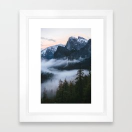 Three Brothers at Sunrise | Yosemite National Park, CA Framed Art Print