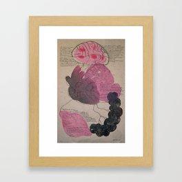 Memoria del desplazamiento Framed Art Print