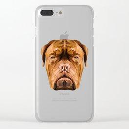 Dogue de Bordeaux low poly. Clear iPhone Case