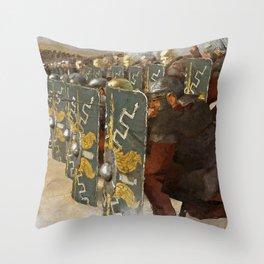 Roman Legion in Battle Throw Pillow