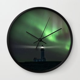 When the northern light appears Wall Clock