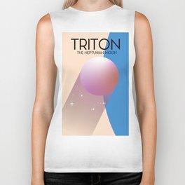 Triton - The Neptunian moon Biker Tank