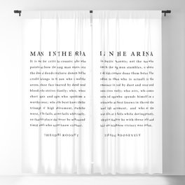 The Man In The Arena, Theodore Roosevelt Blackout Curtain