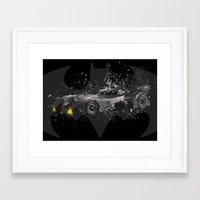 1989 Framed Art Prints featuring Batmobile - 1989 by Nerdiful Art