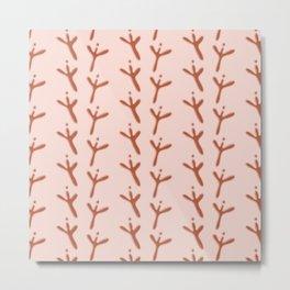 Abstract Bird Footprints Pattern Metal Print