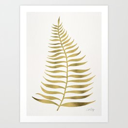 Golden Palm Leaf Art Print