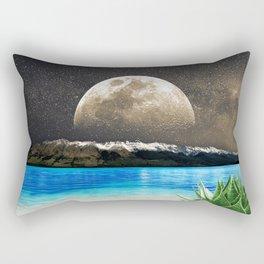 Aloe Vera Moon Beach Rectangular Pillow