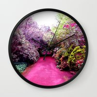 road Wall Clocks featuring Road by haroulita