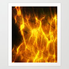 Watery Flames Art Print