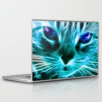 thundercats Laptop & iPad Skins featuring Lightining Cat by Augustinet