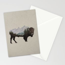 The Land of the Bison Stationery Cards