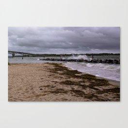 Yorktown Beach post Florence Canvas Print