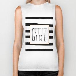 GET IT GIRL, Girlfriend Gift,Girls Boss,Girls Room Decor,Quote Prints,Girly Svg,Quote Prints,Typogra Biker Tank