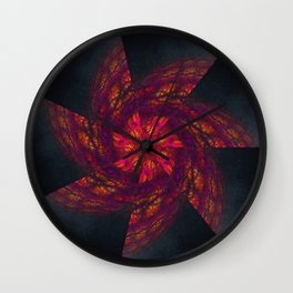 Mandala Like a Wind Wall Clock