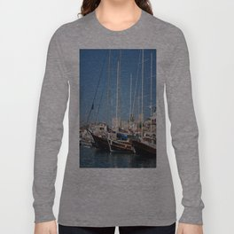 Traditional Turkish Gulets In Marmaris Harbour Long Sleeve T-shirt