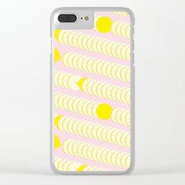 Lemon pattern. Clear iPhone Case