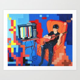 PIXEL BAND Art Print