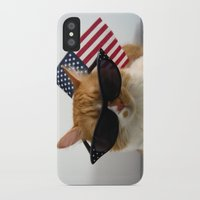 patriotic iPhone & iPod Cases featuring PAWSitively Patriotic by Michelle Dokos