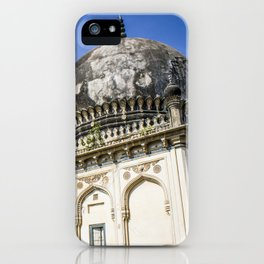 Two Beautiful Tombs Showcasing Traditional Mughal Architecture at the Qutb Shahi Tombs in Hyderabad, India iPhone Case