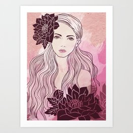 Tropical Girl Art Print