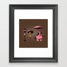 My imaginary friend Framed Art Print