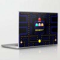 pac man Laptop & iPad Skins featuring Pac Man by Trash Apparel