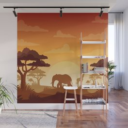 Abstract African Safari Wall Mural