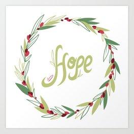 Wreath of hope Art Print