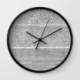 The Rosetta Stone Wall Clock