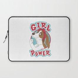 Basset Hound Girl Power Laptop Sleeve