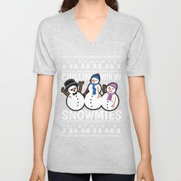 Snowman Christmas Chill Ugly Xmas Gift Unisex V-Neck