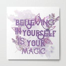believing in yourself - lwa watercolor Metal Print