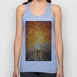 Horseback Riding in the East Coast Forest Unisex Tank Top