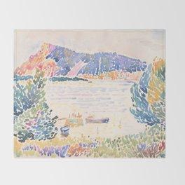 Cap Nègre by Henri-Edmond Cross 1909, French Throw Blanket