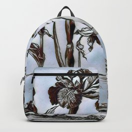 Blue Floral Etching Backpack