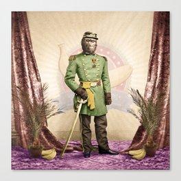 General Simian of the Glorious Banana Republic Canvas Print