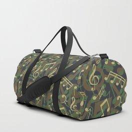 Music Note Camo WOODLAND Duffle Bag